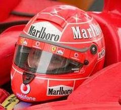 schumacher race worn helmet china 2006